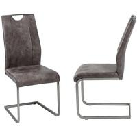 Produktbild Freischwinger Trieste Kunstleder Mittelbraun Schwingstuhl Küchenstuhl Stuhl