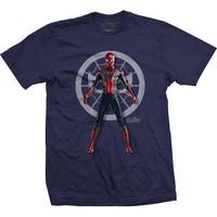 Produktbild Marvel Comics Herren-T-Shirt Avengers Infinity War 'Spider' Character Blau Gr. M