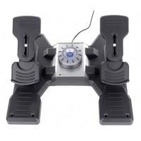 Produktbild Saitek Logitech Gaming Pro Flight Rudder Pedals PZ35 Flugsimulator-Pedale USB PC Schwarz