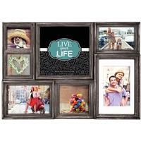 Produktbild ZEP Galerierahmen Derry 7 Bilder Kunststoff Galerierahmen HA07K braun