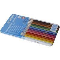 Produktbild DONAU Farbstifte   5 mm, 12 Farben, Metalletui