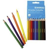 Produktbild DONAU Farbstifte Jumbo   dreikant, 5 mm, 10 Farben, Kartonetui