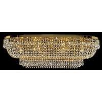 Produktbild Eisen Glas Deckenleuchte Art Deco Deckenlampe Lampe Leuchte H25cm B36cm L75cm
