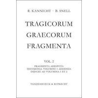 Produktbild Tragicorum Graecorum Fragmenta. Vol. II: Fragmenta Adespota /Testimonia Volumini 1 Addenda / Indices ad Volumina 1 et 2
